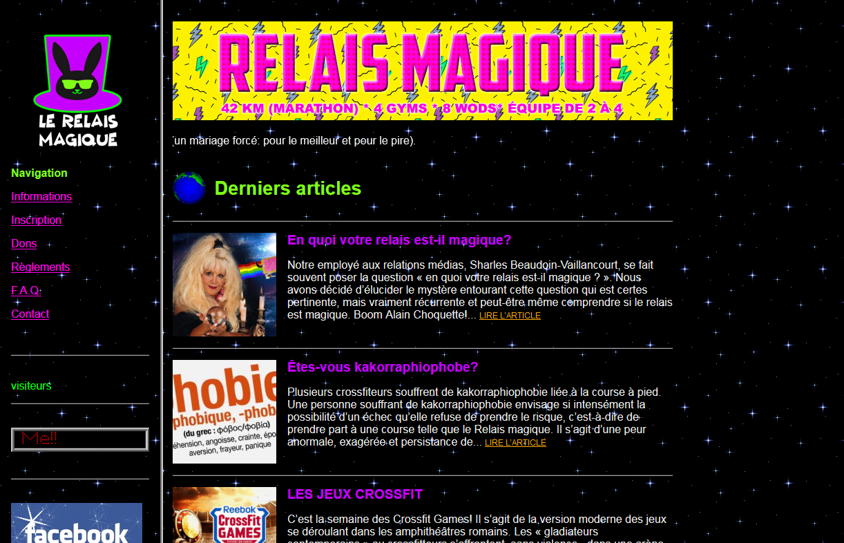 Relais Maguque uses Back to the 90s WordPress theme.